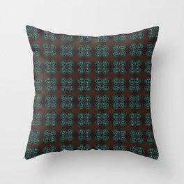 Endless pattern dark Throw Pillow