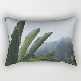 Rainforest Raindrops Rectangular Pillow