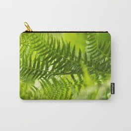 Green Fern Abstract Carry-All Pouch