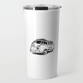 Love van wv 60s hippie surf Travel Mug