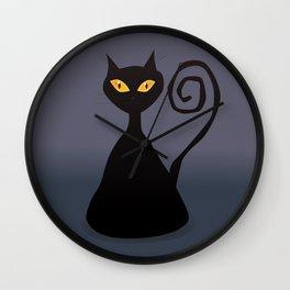 Cunning black cat Wall Clock