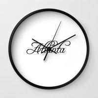 atlanta Wall Clocks featuring Atlanta by Blocks & Boroughs