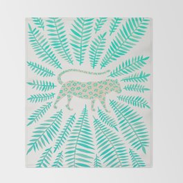 Jaguar – Turquoise & Mint Palette Throw Blanket