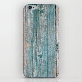 Old wood vintage background iPhone Skin