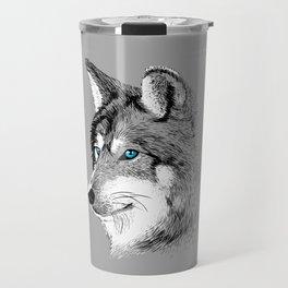 Skecth Wolf Travel Mug