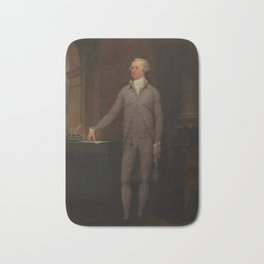 Alexander Hamilton Full-Length Portrait Bath Mat