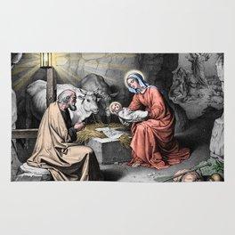 The birth of Christ Rug