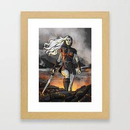 Score of Fire Framed Art Print