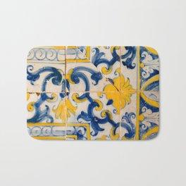 Portuguese azulejos, city of Ericeira Bath Mat
