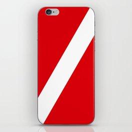 Diving flag iPhone Skin