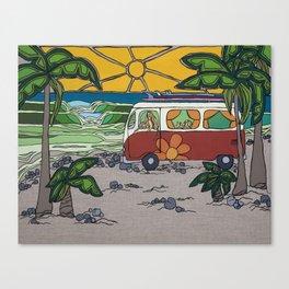 Surf Mama Beach Art by Lauren Tannehill Art Canvas Print