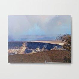 On Top Of The Volcano Metal Print