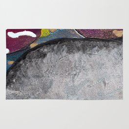 Just Float Hand Painted Acrylic Abstract Rug