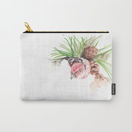 Bird in pine cone tree Carry-All Pouch