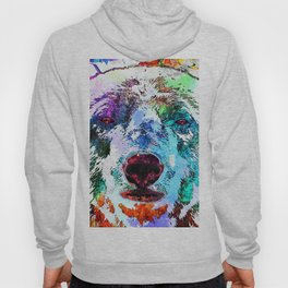 Polar Bear Watercolor Grunge Hoody