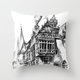 Wroclaw City Hall Throw Pillow