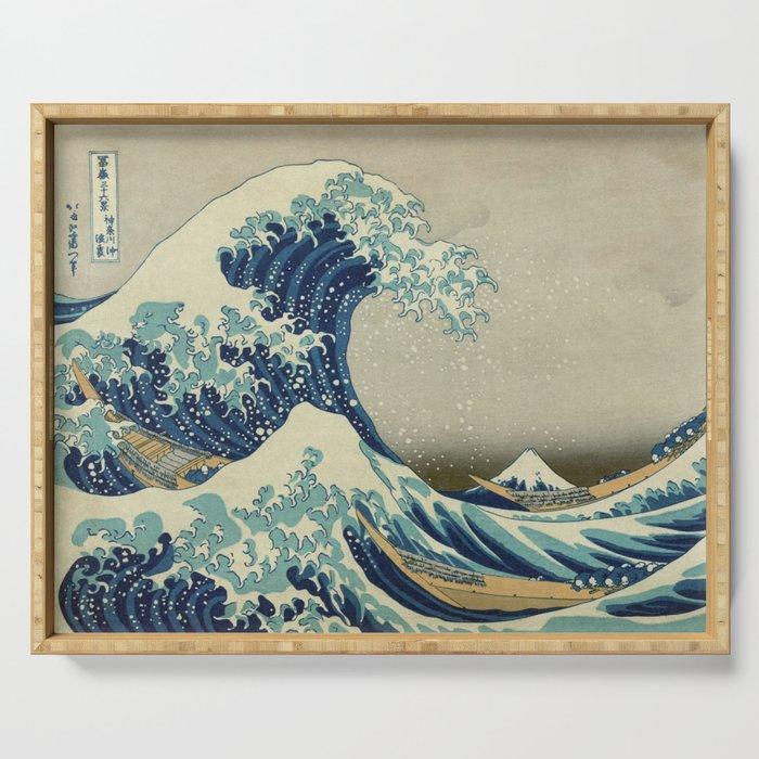 Ukiyo-e, Under the Wave off Kanagawa, Katsushika Hokusai Serving Tray