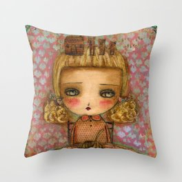 "Goldilocks thinks ""It's for me!"" Throw Pillow"