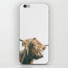 Majestic Highland cow portrait iPhone Skin