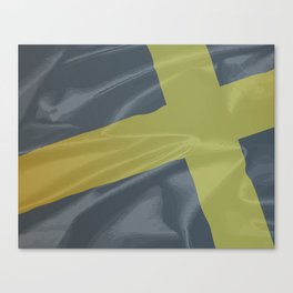 Silk Flag of Saint David Canvas Print