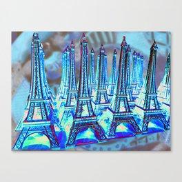 TOUR PARIS PARIS PARIS PARIS Canvas Print