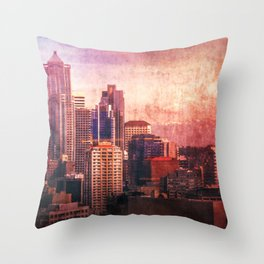 Decode in Downtown Seattle Throw Pillow