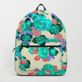Cool colorful Roses Backpack