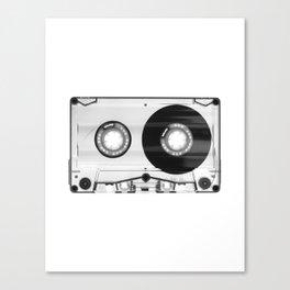 1980's Retro Black-White Vintage 80's Cassette Eighties Technology Art Print Home Decor Wall Decor Canvas Print