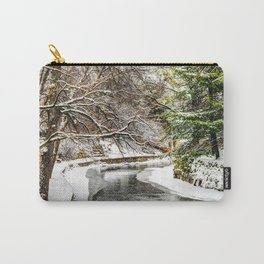 The Riverwalk in Winter Carry-All Pouch
