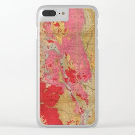 Vintage Geological Map of Colorado (1879) Clear iPhone Case