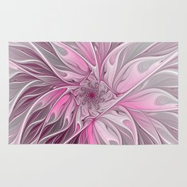 Abstract Pink Floral Dream Rug