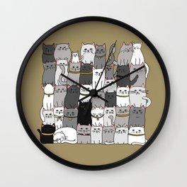 The Glaring - Scandinavian Palette Wall Clock