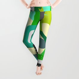 Bright tropical vibe Leggings