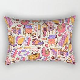 chaotic life Rectangular Pillow