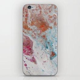WHITE WASH | Fluid abstract art by Natalie Burnett Art iPhone Skin