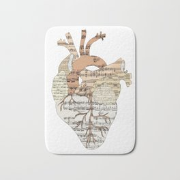 Sound Of My Heart (on white) Bath Mat