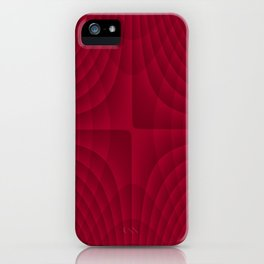 Blood Red Fractals iPhone Case
