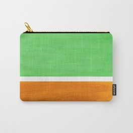 Pastel Mint Green Yellow Ochre Rothko Minimalist Mid Century Abstract Color Field Squares Carry-All Pouch