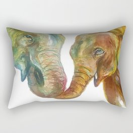 Mommy and Baby Elephant Rectangular Pillow
