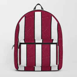 simple red, white stripes. Backpack