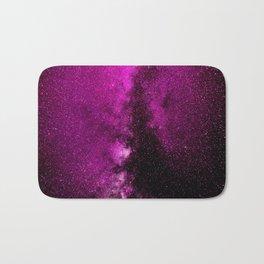 Fuchsia Galaxy Bath Mat