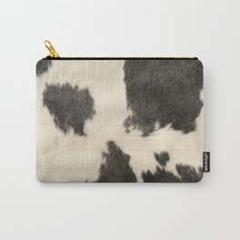 Black & White Cow Hide Carry-All Pouch