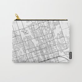 Oshawa Map, Canada - Black and White Carry-All Pouch