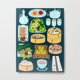 Dim Sum Lunch Metal Print