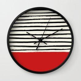 Red Chili x Stripes Wall Clock