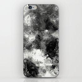 Deja Vu - Black and white, textured painting iPhone Skin