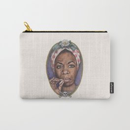 Watercolor Painting of Nina Simone Carry-All Pouch