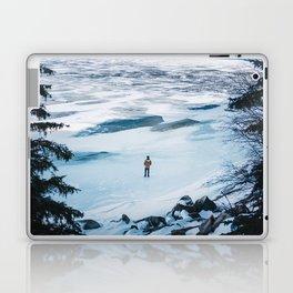 Winter at Lake Minnewanka Laptop & iPad Skin