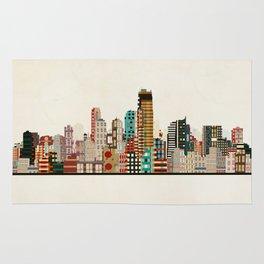 jersey city skyline Rug