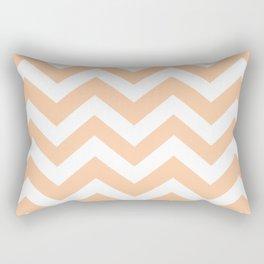 Deep peach - pink color - Zigzag Chevron Pattern Rectangular Pillow